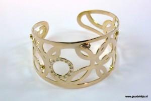 Goud diamant armband